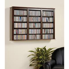 Prepac Espresso Triple Wall Mounted Storage