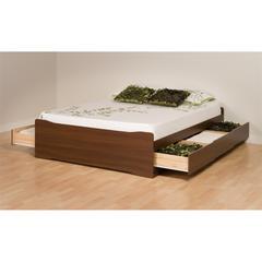 Prepac Warm Cherry Coal Harbor Full Mate's Platform Storage Bed with 6 Drawers