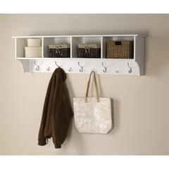 "Prepac White 60"" Wide Hanging Entryway Shelf"