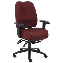 Aaria Collection Dido Multi-Function 4 Paddle  Task Chair / Burgundy
