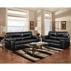 Flash Furniture Exceptional Designs by Flash Living Room Set in Taos Black Leather