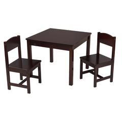 Aspen Table and 2 Chair Set - Espresso
