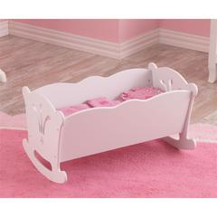 Lil' Doll Cradle with bedding (accommodates American Girl®Dolls)