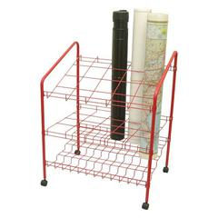 ADIR Adir Wire Bin Roll File 20 openings - Red