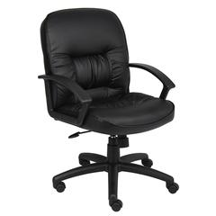 Boss Mid Back LeatherPlus Chair W/ Knee Tilt