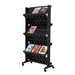 "PAPERFLOW Double sided ""XL"" literature display. Black"