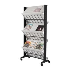 """PAPERFLOW Double sided """"XL"""" literature display. Grey"""