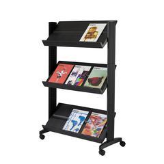"PAPERFLOW Half-sized Single sided ""XL"" literature display. Black"