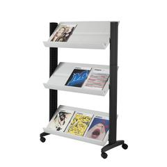 "PAPERFLOW Half-sized Single sided ""XL"" literature display. Grey"