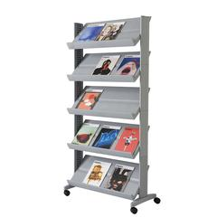 "PAPERFLOW Single sided ""XL"" literature display. Silver"