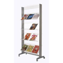 "PAPERFLOW Single sided ""XL"" literature display. Acrylic shelves"