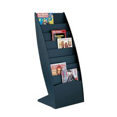 PAPERFLOW Ovo curved floor literature display .Black