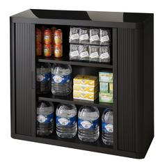 "PAPERFLOW 41 "" H.EasyOffice Storage Cabinet  . BLACK incl.2 shelves"