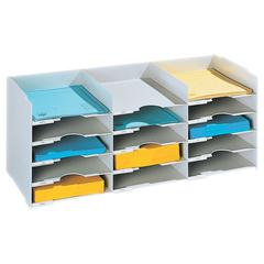 "PAPERFLOW 26 1/2 "" W. Stackable horizontal organiser .Grey"