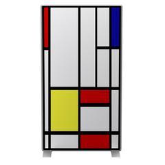 Paperflow easyScreen Vertical Divider Screen, Mondrian