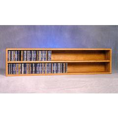 Wood Shed Solid Oak Wall or Shelf Mount CD Cabinet