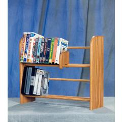 Solid Oak 2 Row Dowel DVD/VHS Rack