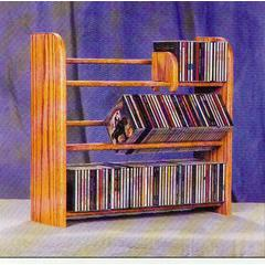 Solid Oak 3 Row Dowel CD Rack