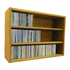 Wood Shed Solid Oak desktop or shelf CD Cabinet