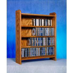 Solid Oak 4 Shelf CD Cabinet