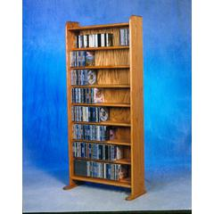 Wood Shed Solid Oak 8 Shelf CD Cabinet