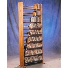 Wood Shed Solid Oak 9 Row Dowel CD Rack