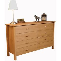 8 Drawer Nouvelle Lowboy Chest, 52½ x 16 x 31, Oak