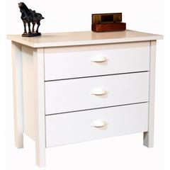 3 Drawer Nouvelle Chest, 28-1/2 x 16 x 24-3/4, White