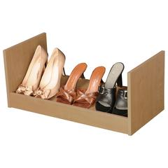 Stackable Shoe Racks, 24 x 12 x 10, Oak