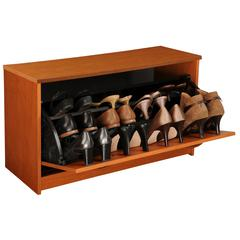 Single Shoe Chest, 30 x 11-1/2 x 18, Cherry