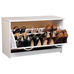 Single Shoe Chest, 30 x 11-1/2 x 18, White