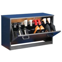 Single Shoe Chest, 30 x 11-1/2 x 18, Black