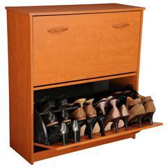 Venture Horizon Double Shoe Chest, 30 x 11-1/2 x 34, Cherry