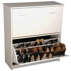 Venture Horizon Double Shoe Chest, 30 x 11-1/2 x 34, White