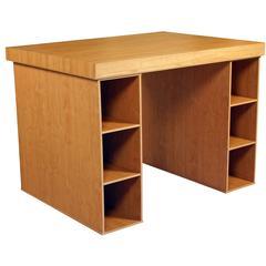 Project Center With 2-3 Bin Cabinets, 55 x 41 x 38-1/2, Oak