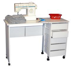 Mobile Desk/Workstation, 43 x 16 x 29, White
