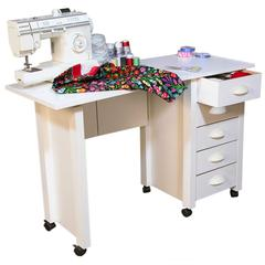 Folding Mobile Desk, 45 x 18 x 29, White