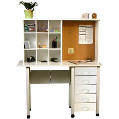 Hutch/Organizer, 43 x 8 x 23-1/2, White