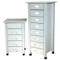 5-Drawer Mobile Cart Bead Board, 18 x 18 x 29, White