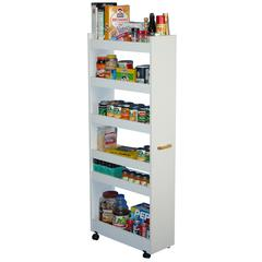Thin Man Pantry Cabinet, 10 x 23-1/2 x 58, White