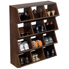 Venture Horizon Multi-Purpose Bins, 32 x 12 x 10, Walnut