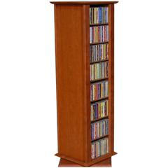 "Revolving Media Tower-2 Sided, 15"" x 14-1/2 x 50-3/4, Cherry"