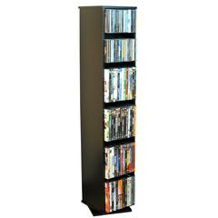 Venture Horizon Revolving Media Library, 10 x 10 x 48, Black