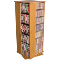 Revolving Media Tower 800, 19-1/4 x 19 x 50, Oak