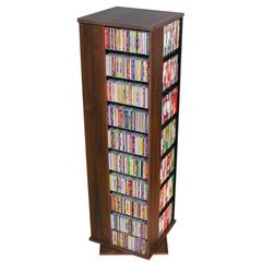 Venture Horizon Revolving Media Tower 1000, 19-1/4 x 19-1/4 x 63, Walnut