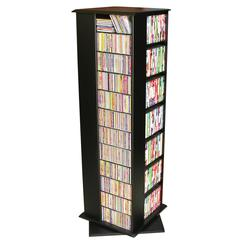 Revolving Media Tower Molded, 22-3/4 x 22-3/4 x 63, Black