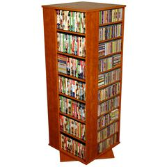 Venture Horizon Revolving Media Tower Grande, 24 x 24 x 63, Cherry