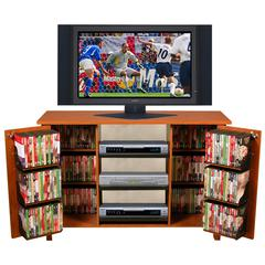 Venture Horizon Multi-Media A/V Cabinet, 47-1/4 x 15-3/4 x 32-3/8, Cherry