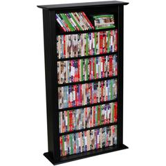 Media Storage Tower-Regular Single, 28 x 9-1/2 x 50, Black