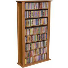 Venture Horizon Media Storage Tower-Regular Single, 28 x 9-1/2 x 50, Cherry